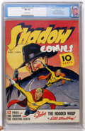 Golden Age (1938-1955):Crime, Shadow Comics #7 Crowley Copy (Street & Smith, 1940) CGC VF- 7.5 Off-white pages....
