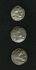 Ancients:Ancient Lots  , Ancients: Lot of three tetradrachms of Alexander the Great.... (Total: 3 coins)