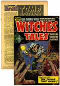 Golden Age (1938-1955):Horror, Witches Tales and Tomb of Terror Group (Harvey, 1952-54) ....(Total: 2 Comic Books)