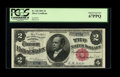 Large Size:Silver Certificates, Fr. 245 $2 1891 Low Serial Number Silver Certificate PCGS SuperbGem New 67PPQ....
