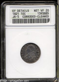Bust Dimes, 1821 Large Date VF20--Corroded, Cleaned-- ANACS. XF ...