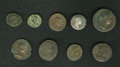 Ancients:Ancient Lots  , Ancients: Lot of nine Roman coins, most depicting war galleys....(Total: 9 coins)