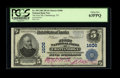 National Bank Notes:Tennessee, Chattanooga, TN - $5 1902 Plain Back Fr. 599 The First NB Ch. #1606. ...