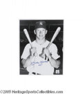 "Autographs:Photos, Mickey Mantle ""No. 7"" Signed Large Photograph. A special piece fora number of reasons. First, the charming portrait of a ..."