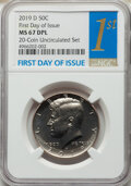 Kennedy Half Dollars, 2019-D 50C Clad, First Day of Issue MS67 Deep Prooflike NGC. PCGS Population: (61/4). CDN: $60 Whsle. Bi...