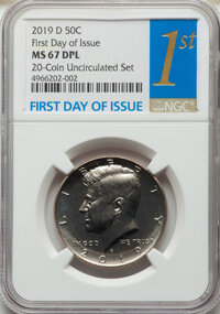 2019-D 50C Clad, First Day of Issue MS67 Deep Prooflike NGC. NGC Census: (0/0). PCGS Population: (61/4). CDN: $60 Whsle...