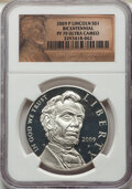 Modern Commemoratives, 2009-P $1 Lincoln Bicentennial Silver Dollar PR70 Ultra Cameo NGC. NGC Census: (6847). PCGS Population: (2516). CDN: $38 Wh...