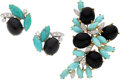 Estate Jewelry:Suites, Turquoise, Onyx, Diamond, Gold Jewelry Suite. ... (Total: 2 Items)