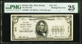 Missing Overprint Error Jersey City, NJ - $5 1929 Ty. ? The First National Bank Ch. # 374 PMG Very Fine