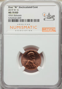 2019-W 1C Shield, ANA Release MS70 Red NGC. NGC Census: (0). PCGS Population: (11)....(PCGS# 752260)