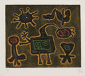 Prints & Multiples, Joan Miró (1893-1983). Serie 1, 1952. Etching with aquatint and engraving in colors on Arches paper. 14-7/8 x 17-7/8 inc...