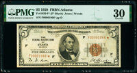 Fr. 1850-F* $5 1929 Federal Reserve Bank Star Note. PMG Very Fine 30