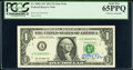 Small Size:Federal Reserve Notes, Jack Lew Courtesy Autographed Fr. 3002-A* $1 2013 Federal Reserve Star Notes. Two Consecutive Examples. PCGS Graded Gem New 65... (Total: 2 notes)