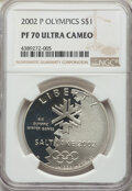 Modern Commemoratives, 2002-P $1 Salt Lake City Olympics Silver Dollar PR70 Ultra Cameo NGC. NGC Census: (189). PCGS Population: (94). CDN: $100 W...