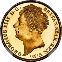 Great Britain: George IV gold 2 Pounds 1823 MS66+ NGC