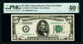 Fr. 1950-D* $5 1928 Federal Reserve Star Note. PMG Extremely Fine 40 EPQ