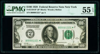 Fr. 2150-B* $100 1928 Federal Reserve Star Note. PMG About Uncirculated 55 EPQ