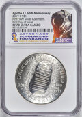 Modern Commemoratives, 2019-P $1 Apollo 11 50th Anniversary, First Day of Issue PR70 Ultra Cameo NGC. NGC Census: (3780). PCGS Population: (105)....