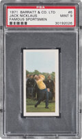 Golf Cards:General, 1971 Barratt & Co, Ltd Famous Sportsman Jack Nicklaus #6 PSA Mint 9. ...