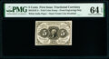 Fractional Currency:First Issue, Milton 1E5F.3b 5¢ First Issue Off-Color PMG Choice Uncirculated 64 EPQ.. ...