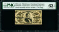 Fractional Currency:Third Issue, Fr. 1297 Milton 3R25.4b 25¢ Third Issue Inverted Back Engraving PMG Choice Uncirculated 63 EPQ.. ...