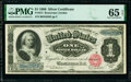 Large Size:Silver Certificates, Fr. 215 $1 1886 Silver Certificate PMG Gem Uncirculated 65 EPQ.. ...