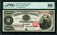 Fr. 357 $2 1891 Treasury Note PMG Gem Uncirculated 66 EPQ