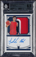 Basketball Cards:Singles (1980-Now), 2020 Panini National Treasures Collegiate Lamelo Ball Jersey, Autograph #63 BGS NM-MT+ 8.5, Auto 10 - #'d 26/35....