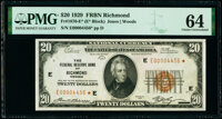 Fr. 1870-E* $20 1929 Federal Reserve Bank Note Star. PMG Choice Uncirculated 64