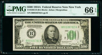 Fr. 2202-B $500 1934A Federal Reserve Note. PMG Gem Uncirculated 66 EPQ