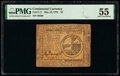Colonial Notes:Continental Congress Issues, Continental Currency May 10, 1775 $2 PMG About Uncirculated 55.. ...