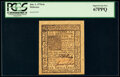 Colonial Notes:Delaware, Delaware January 1, 1776 6s PCGS Superb Gem New 67PPQ.. ...