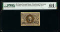 Fractional Currency:Second Issue, Fr. 1286a 25¢ Second Issue Slate Back PMG Choice Uncirculated 64 EPQ.. ...