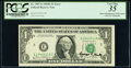 Minor Shifted Third Printing Error and George P. Shultz Courtesy Autographed Fr. 1907-E $1 1969D Federal Reserve Note. P...