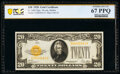 Small Size:Gold Certificates, Fr. 2402 $20 1928 Gold Certificate. PCGS Banknote Superb Gem Unc 67 PPQ.. ...