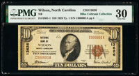 Wilson, NC - $10 1929 Ty. 1 National Bank of Wilson Ch. # 13626 PMG Very Fine 30