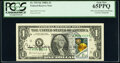 Postally Cancelled and Catalina Vasquez Villalpando Courtesy Autographed Fr. 1915-K $1 1988A Federal Reserve Note. PCGS...