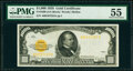 Small Size:Gold Certificates, Fr. 2408 $1,000 1928 Gold Certificate. PMG About Uncirculated 55.. ...