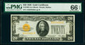Fr. 2402 $20 1928 Gold Certificate. PMG Gem Uncirculated 66 EPQ