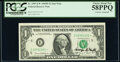 George P. Shultz Courtesy Autographed Fr. 1907-E* $1 1969D Federal Reserve Star Note. PCGS Choice About New 58PPQ