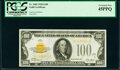 Small Size:Gold Certificates, Fr. 2405 $100 1928 Gold Certificate. PCGS Extremely Fine 45PPQ.. ...
