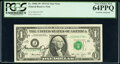 Small Size:Federal Reserve Notes, Francine I. Neff Courtesy Autographed Fr. 1908-J* $1 1974 Federal Reserve Star Note. PCGS Very Choice New 64PPQ.. ...