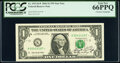 Henry M. Paulson, Jr. Courtesy Autographed Fr. 1933-K* $1 2006 Federal Reserve Star Note. PCGS Gem New 66PPQ