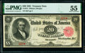 Large Size:Treasury Notes, Fr. 375 $20 1891 Treasury Note PMG About Uncirculated 55.. ...