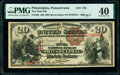 National Bank Notes:Pennsylvania, Philadelphia, PA - $20 1882 Brown Back Fr. 493 The Third National Bank Ch. # 234 PMG Extremely Fine 40.. ...