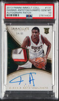 Basketball Cards:Singles (1980-Now), 2013 Panini Immaculate Collection Giannis Antetokounmpo Autograph Patch #131 PSA Gem Mint 10....