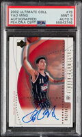 Basketball Cards:Singles (1980-Now), 2002 Upper Deck Ultimate Collection Yao Ming #79 PSA Mint 9, Auto 9 - #'d 246/250....