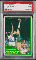 Basketball Cards:Singles (1980-Now), 1981 Topps Kevin McHale #75 PSA Mint 9....