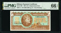 Military Payment Certificates:Series 692, Series 692 $5 First Printing Replacement PMG Gem Uncirculated 66 EPQ.. ...
