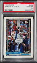 Basketball Cards:Singles (1980-Now), 1992 Topps Shaquille O'Neal #362 PSA Gem Mint 10....